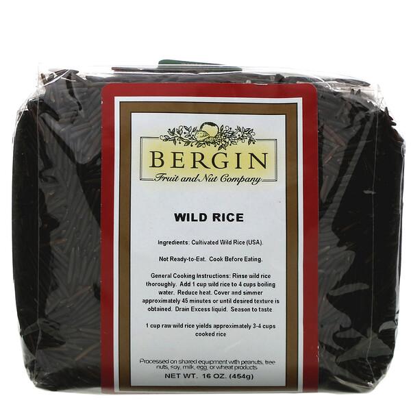 Bergin Fruit and Nut Company, أرز بري، 16 أونصة (454 جم)