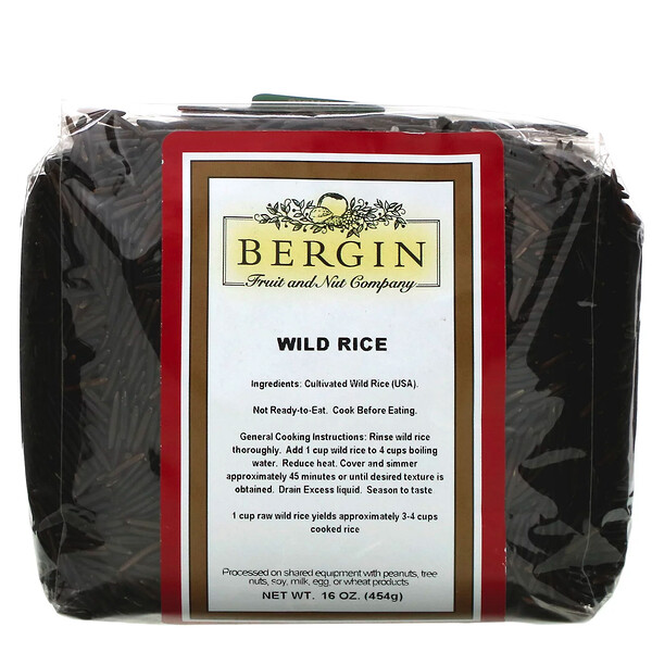 Bergin Fruit and Nut Company, Wild Rice, 16 oz (454 g)