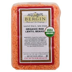 Бергин Фрут и Нат Кампани, Organic Red Lentil Beans, 16 oz (454 g) отзывы