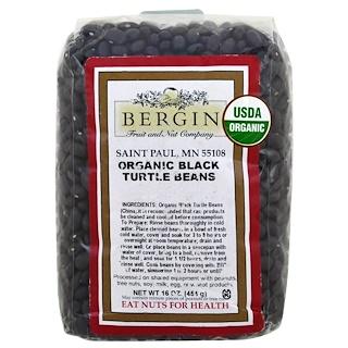 Bergin Fruit and Nut Company, Organic Black Turtle Beans, 16 oz (454 g)