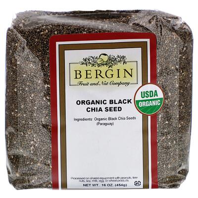 Купить Органические черные семена чиа, 454 г (16 унций)