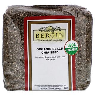 Bergin Fruit and Nut Company, органические черные семена чиа, 454 г (16 унций)