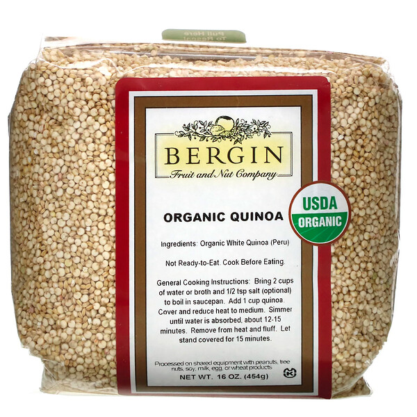 Bergin Fruit and Nut Company, Quinua orgánica, 16 oz (454 g)