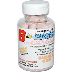 Би Фрэш Инк, Breath Freshening Gum, Bubble Gum, 50 Pieces отзывы покупателей
