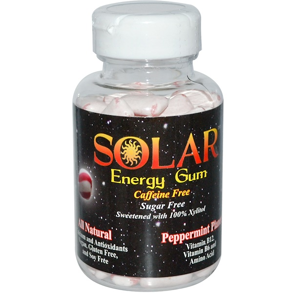 Solar, Energy Gum, Peppermint Planet, 100 Pieces