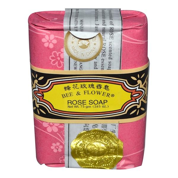 Bee & Flower, Розовое мыло, 2,65 унции (75 г) (Discontinued Item)