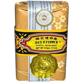 Bee & Flower, ビー&フラワー, Sandalwood Soap, 4.4 oz (125 g)