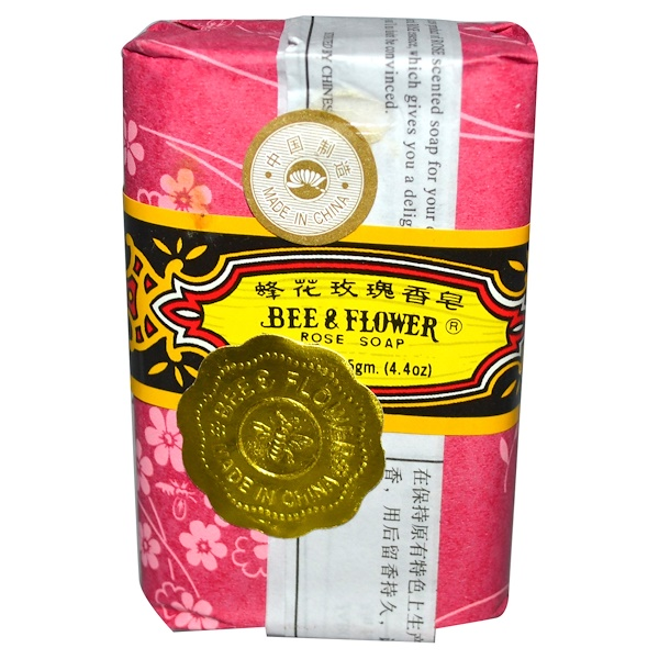Bee & Flower, Bar Soap, Rose, 4.4 oz (125 g) (Discontinued Item)