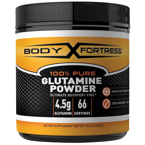 Body Fortress, 100% Pure Glutamine Powder, 10.6 oz (300 g)