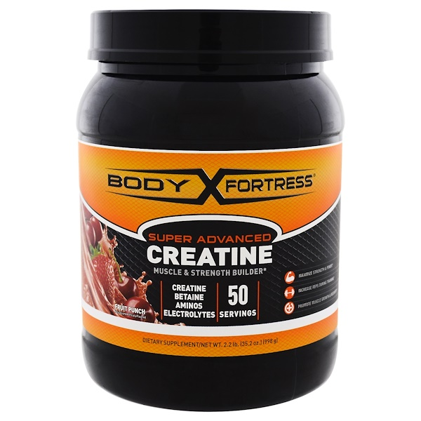 Body Fortress, Super Advanced Creatine, Fruit Punch, 2.2 lbs (998 g) (Discontinued Item)
