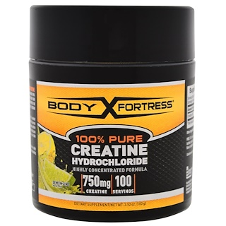 Body Fortress, 100% Pure Creatine HCL, Lemon-Lime, 3.52 oz (100 g)