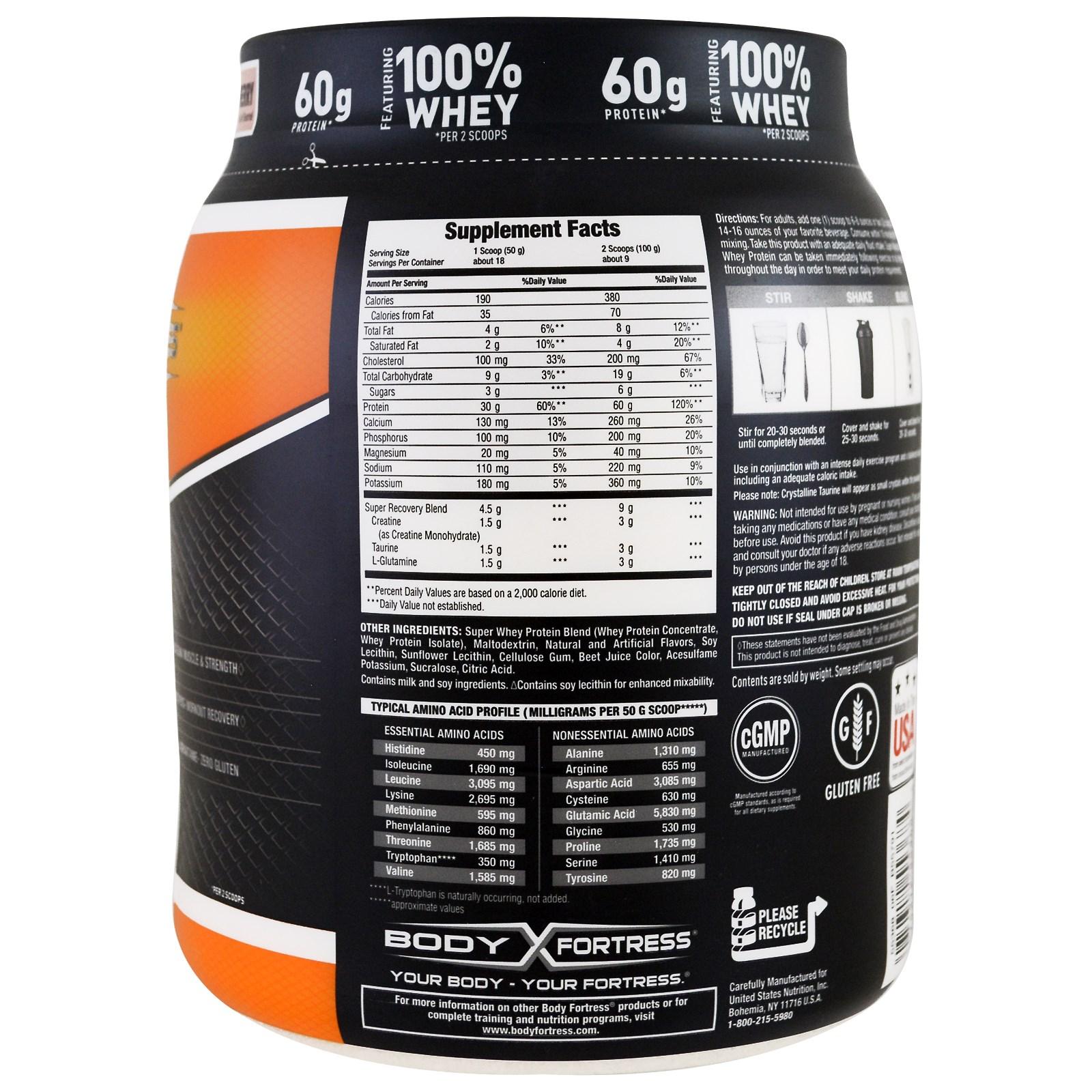 Body Fortress Super Advanced Whey Protein Powder Chocolate 2 Lb