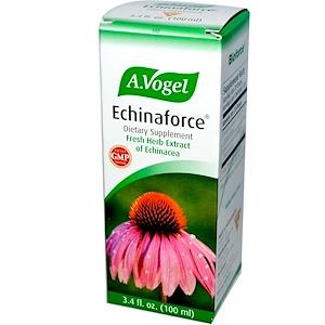 А Вогел, Echinaforce, Fresh Herb Extract of Echinacea, 3.4 fl oz (100 ml) отзывы покупателей