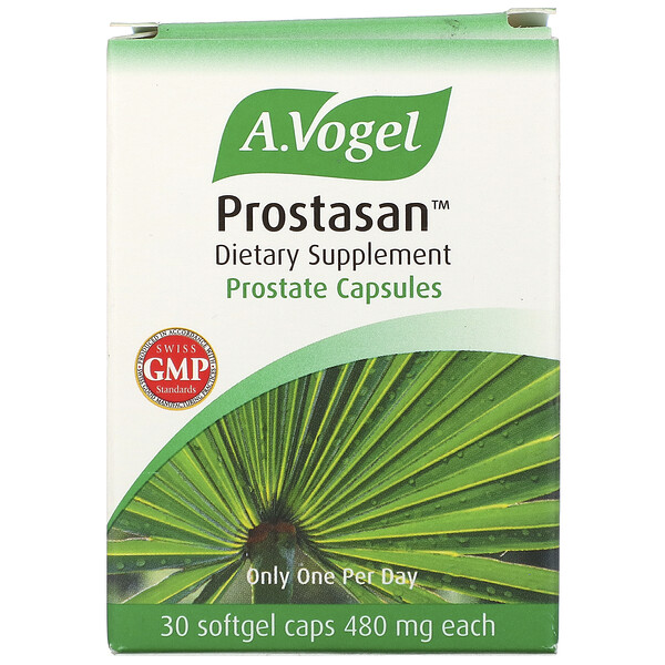 A Vogel, Prostasan, Prostate Capsules, 480 mg, 30 Softgel Caps (Discontinued Item)