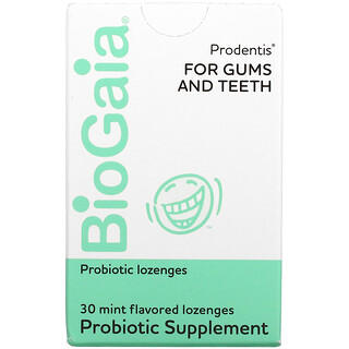 BioGaia, Prodentis For Gums And Teeth, Mint, 30 Lozenges