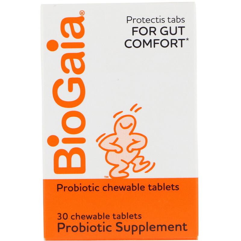 BioGaia, Probiotic Supplement, Lemon Flavored, 30 Chewable Tablets