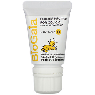 BioGaia, ProTectis,嬰兒滴劑,含維生素 D,0.34 盎司(10 毫升),用於緩解腹絞痛和支持消化