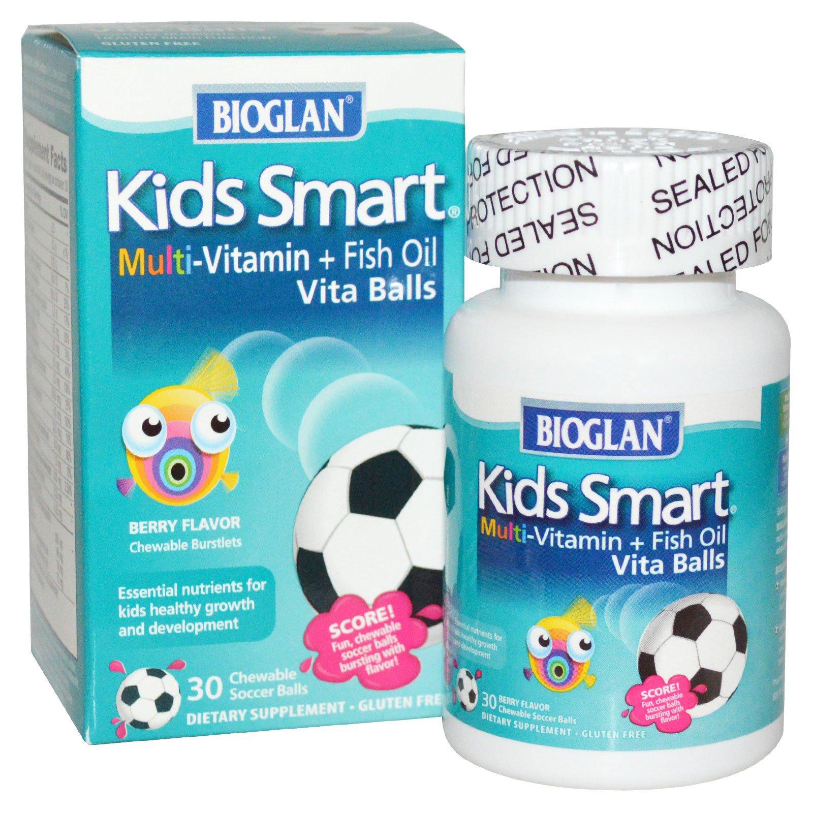 Bioglan kids smart multi vitamin fish oil vita balls for Multivitamin with fish oil