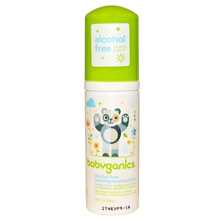 BabyGanics, The Germinator, espuma desinfectante para manos, sin alcohol, sin fragancia, 1,69 fl oz (50 ml)