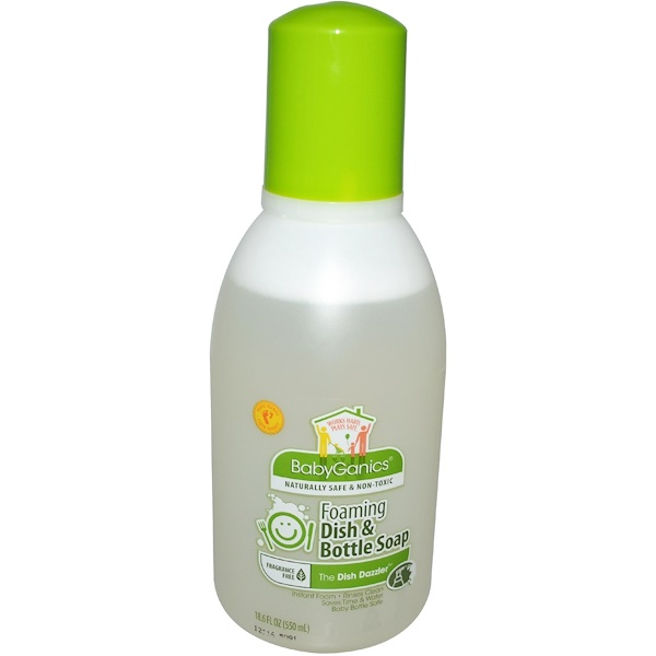 BabyGanics, Средство для мытья посуды, без отдушек, 18,6 жидких унций (550 ml) (Discontinued Item)