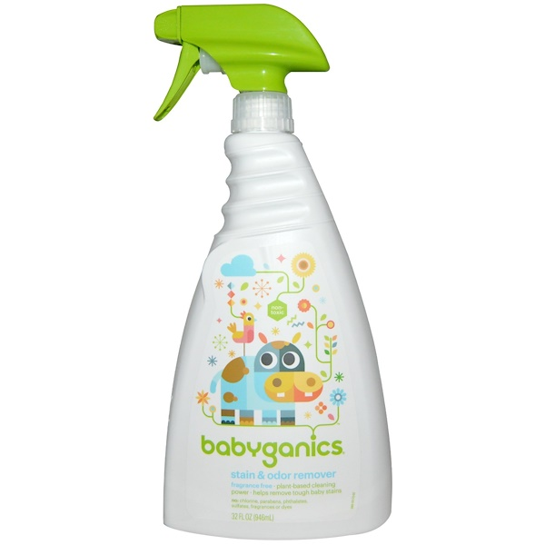 BabyGanics, Stain & Odor Remover, Fragrance Free, 32 fl oz (946 ml) (Discontinued Item)