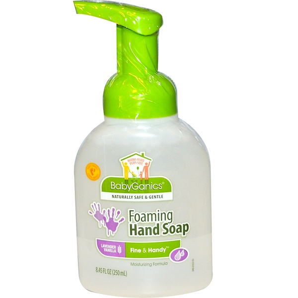BabyGanics, Прекрасное и удобное, пенящееся мыло для рук, лаванда и ваниль, 8,45 жидких унций (250 мл) (Discontinued Item)