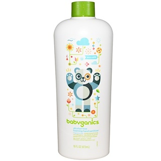 BabyGanics, The Germinator, Foaming Hand Sanitizer, Eco Refill, Alcohol Free, Fragrance Free, 16 fl oz (473 ml)