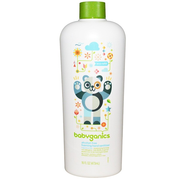 BabyGanics, The Germinator, Desifenctante con Espuma para Manos, Relleno Ecológico, Sin Alcohol, Sin Fragrancia, 16 fl oz (473 ml) (Discontinued Item)