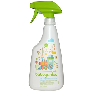 BabyGanics, Limpiador para Juguetes y Highchair, Sin Fragancia, 17 fl oz (502 ml)