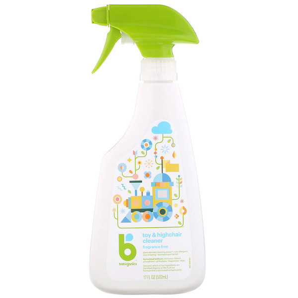 BabyGanics, Toy & Highchair Cleaner, Fragrance Free, 17 fl oz (502 ml)