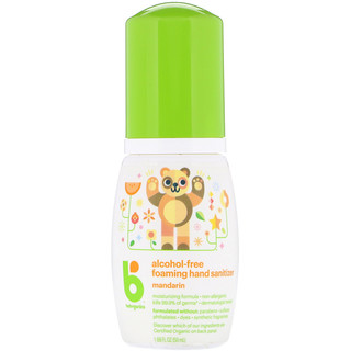 BabyGanics, Foaming Hand Sanitizer, Alcohol-Free, Mandarin, 1.69 oz (50 ml)