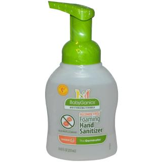 BabyGanics, The Germinator, Foaming Hand Sanitizer, Alcohol Free, Tangerine, 8.45 fl oz (250 ml)