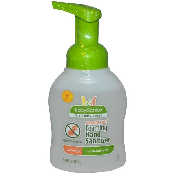 BabyGanics, The Germinator, Foaming Hand Sanitizer, Alcohol Free, Tangerine, 8.45 fl oz (250 ml)