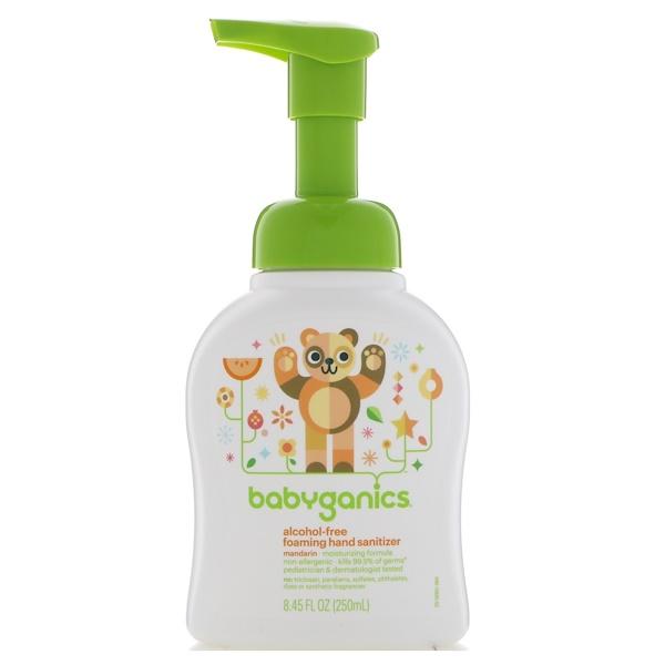 BabyGanics, Foaming Hand Sanitizer, Alcohol Free, Mandarin, 8.45 fl oz (250 ml)
