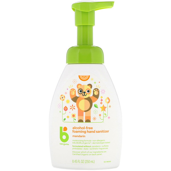 BabyGanics, Alcohol-Free, Foaming Hand Sanitizer, Mandarin, 8.45 fl oz (250 ml) (Discontinued Item)