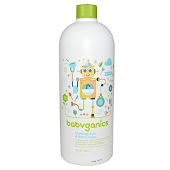 BabyGanics, Foaming Dish & Bottle Soap, Eco Refill, Fragrance Free, 32 fl oz (946 ml)