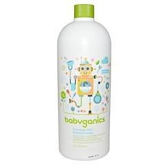 BabyGanics, 餐具&奶瓶泡沫洗潔精,環保補充裝,不含香料,33.8盎司(1升)