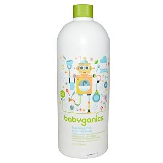 BabyGanics, The Dish Dazzler, пенящееся средство для мытья посуды, запасной блок, без отдушек, 33,8 жидких унций (1 л)