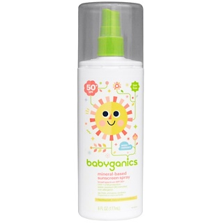 BabyGanics, Protetor Solar Spray de Base Mineral, 50 + FPS, 6 fl oz (177 ml)