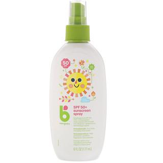 BabyGanics, Sunscreen Spray, 50 + SPF, 6 fl oz (177 ml)