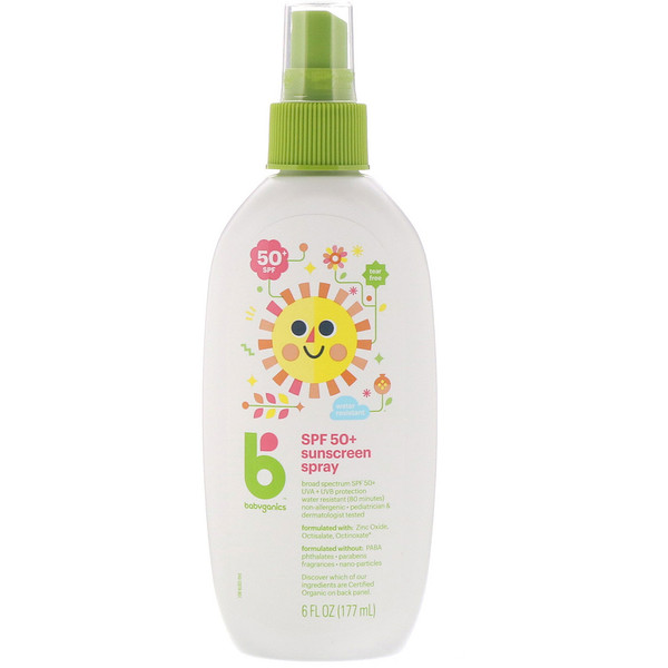 BabyGanics, Sunscreen Spray, 50+ SPF, 6 fl oz (177 ml)