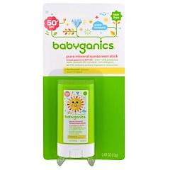 BabyGanics, Pure Mineral Sunscreen Stick, SPF 50+, 0.47 oz (13 g)