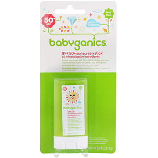 BabyGanics, Sunscreen Stick, SPF 50+, 0.47 oz (13 g)