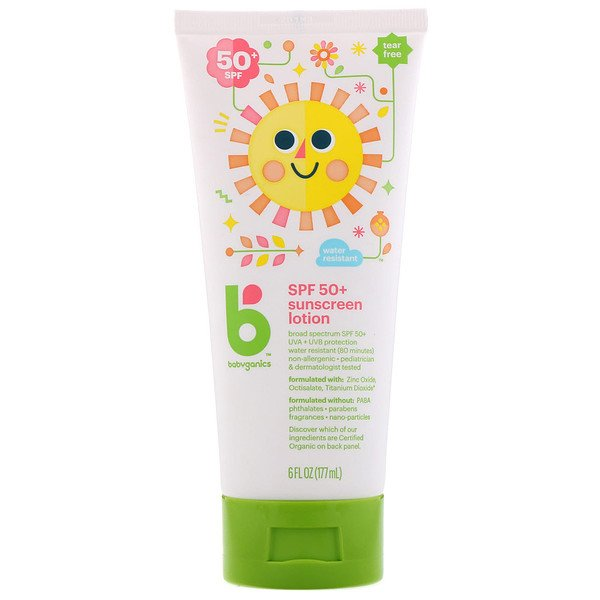 "BabyGanics, קרם מקדם הגנה, SPF 50+, 177 מ""ל (6 fl oz) (Discontinued Item)"