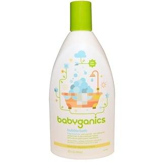 BabyGanics, バブルバス、無香料、20 液量オンス (591 ml)