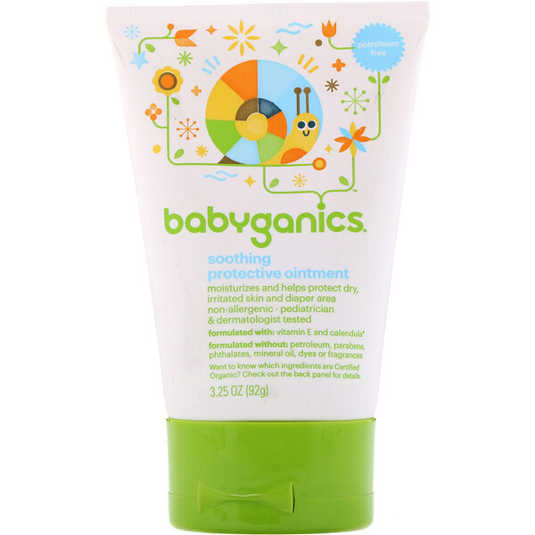 BabyGanics, Soothing Protective Ointment, 3.25 oz (92 g) (Discontinued Item)