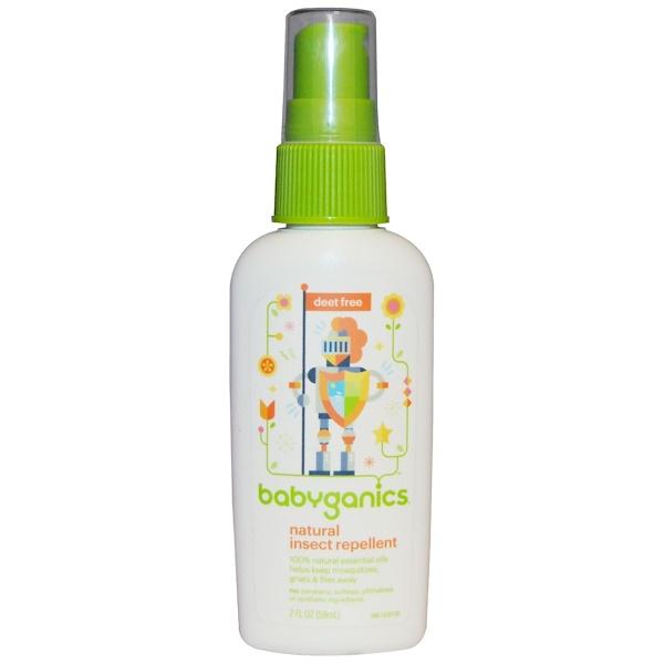BabyGanics, Natural Insect Repellent, 2 fl oz (59 ml)