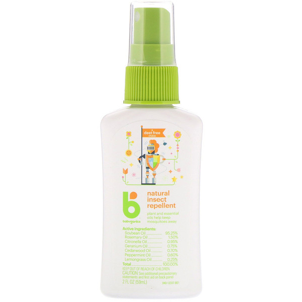 BabyGanics, Natural Insect Repellent, 2 fl oz (59 ml) (Discontinued Item)