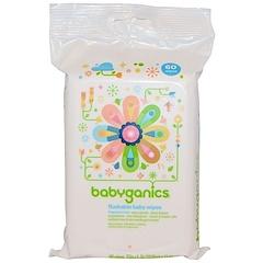 BabyGanics, Flushable Baby Wipes, Fragrance Free, 60 Wipes