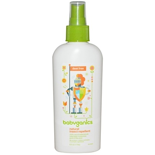 BabyGanics, Natural Insect Repellent, Deet Free, 6 oz (177 ml)